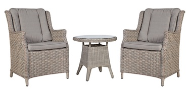 Home4you Pacific Table And 2 Chairs Set Beige/Grey