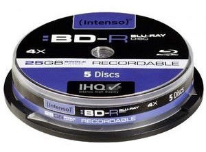 Intenso BD-R 4X 25GB 5P Spindle Pack
