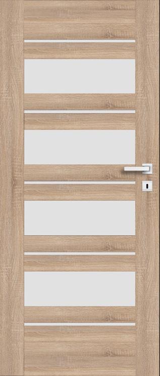 Полотно межкомнатной двери PerfectDoor EVIA 01, дубовый, 203.5 см x 64.4 см x 4 см