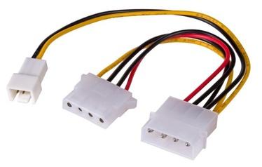 Akyga Adapter Molex / Molex + 3pin 0.15m