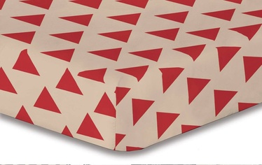 Palags DecoKing Hypnosis, sarkana/bēša, 200x220 cm, ar gumiju