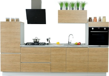 MN Kitchen Unit Claus 3.2m Wood