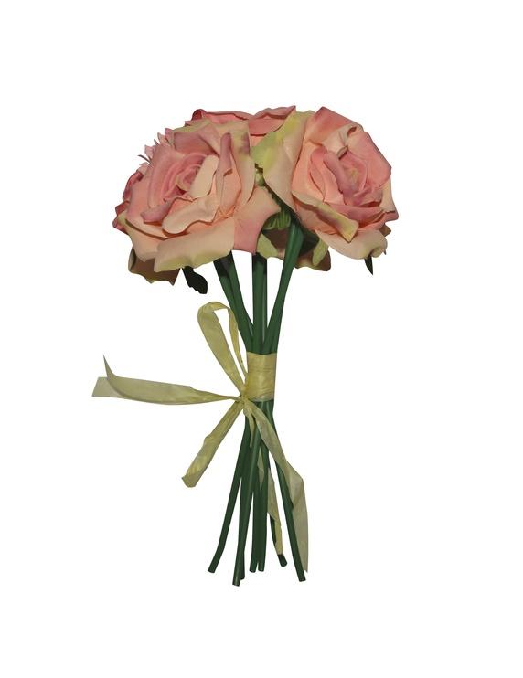 Dirbtinių gėlių puokštė, 30 cm