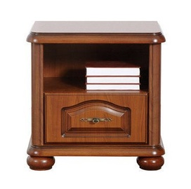 Black Red White Natalia Night Stand Cherry Wood