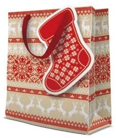 Paw Decor Collection Gift Bag Christmas Stocking 20x25x10cm