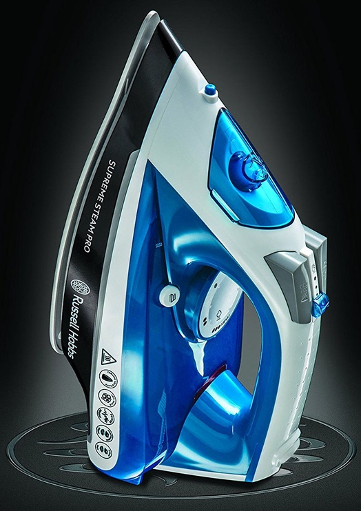 Утюг Russell Hobbs Supreme Steam Pro 23971-56, синий/белый/черный