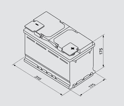 Akumulators Bosch S5, 12 V, 85 Ah, 800 A