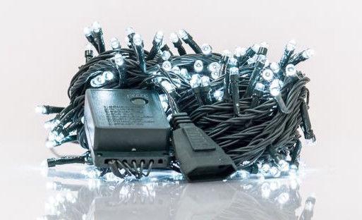 Электрическая гирлянда EV LED 200, белый, 14 м