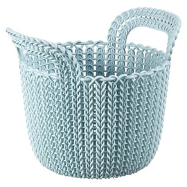 Curver Knit XS Round Basket Blue