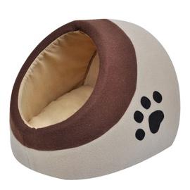 Кровать для животных VLX Cubby M, коричневый/кремовый, 290 мм x 320 мм