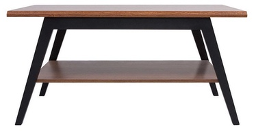 Kavos staliukas Black Red White Madison Brown Oak/Black, 1100x600x545 mm