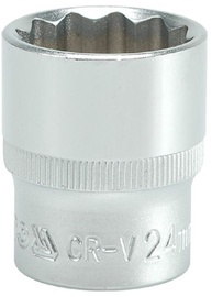 Yato YT-1286 1/2'' Bi-hexagonal Socket 24mm