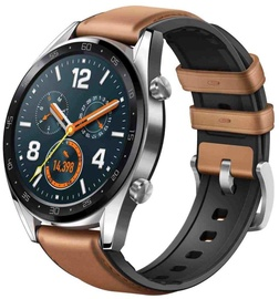 Išmanusis laikrodis Huawei Watch GT Silver Lether Strap