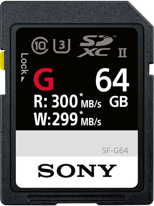 Sony 64GB SDXC UHS-II U3 Class 10