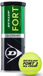 Tennisepall Dunlop Fort All Court, kollane, 3 tk