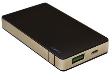 Uzlādēšanas ierīce – akumulators Celly Sottile, 4000 mAh, zelta/melna
