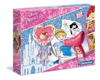 Dekorēšanas komplekts Clementoni Disney Princess Sparkly Art Set