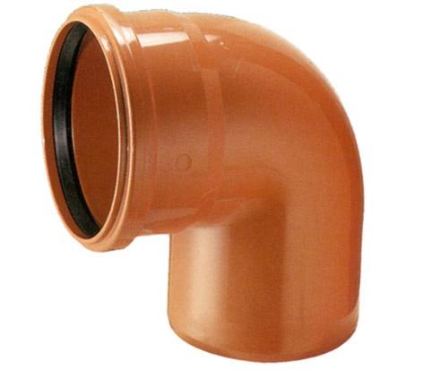 Āra kanalizācijas caurules 88,5° līkums Wavin D160mm, PVC
