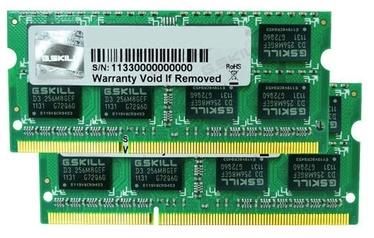 G.SKILL Ripjaws 16GB 1600MHz CL10 DDR3 SO-DIMM F3-1600C10D-16GSQ
