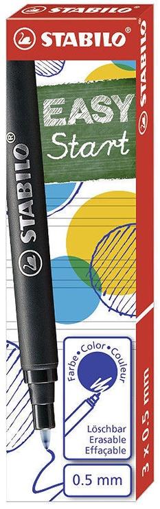 Stabilo Easy Original Ink Cartriges Blue 0.5mm 3pcs