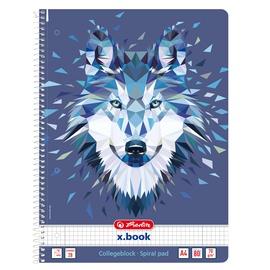 Записная книжка Herlitz Wild Animals 50027774, в клеточку, A4, 80 листов