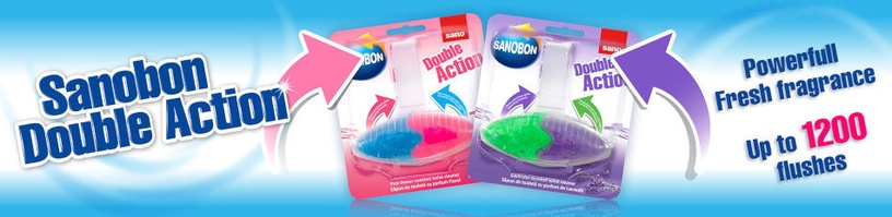 Sano Sanobon Double Action Lavender Toilet Rim Block 55g