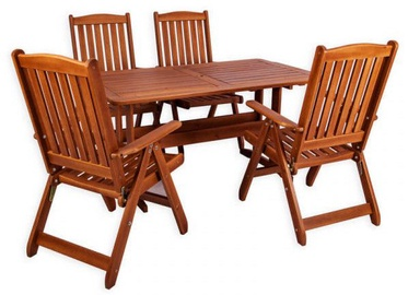 Folkland Timber Garden Set Lolland Brown