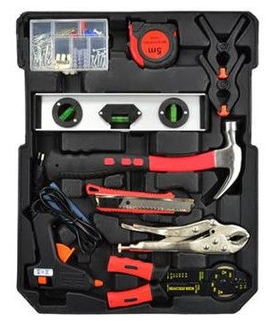 Geko Tool Box Set Aluminium Case 187pcs