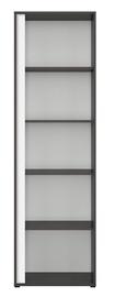 Black Red White Graphic Right Bookshelf 57x191cm Black