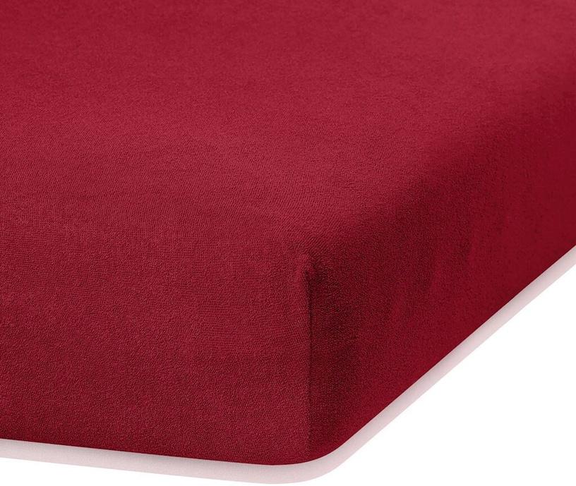 Palags AmeliaHome Ruby, sarkana, 120x200 cm, ar gumiju