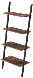 Plaukts Songmics 4 Tier Ladder Brown/Black, 64x35x150 cm