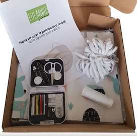 Lulando Family Box Sewing Kit Protective Mask Set Ballerinas 30pcs