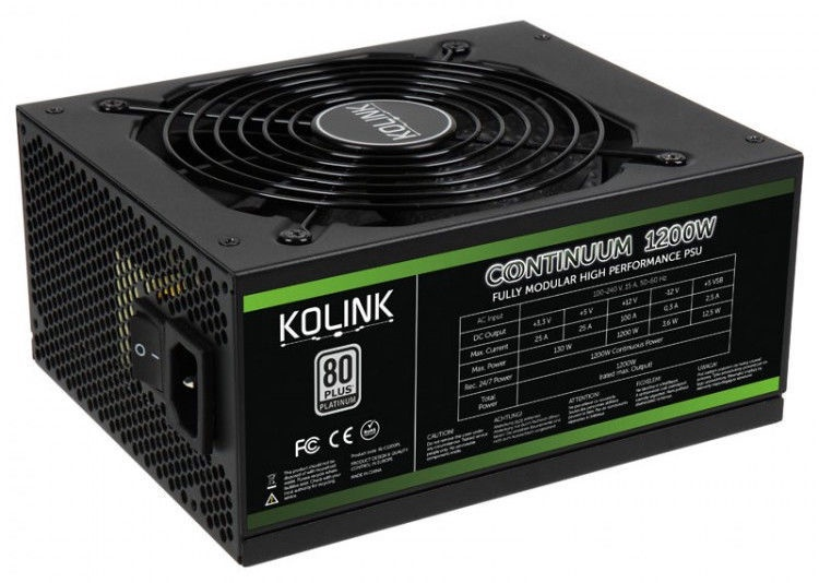 Kolink Continuum 80 Plus Platinum PSU 1200W