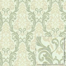 Tapetas flizelino pagrindu, Sintra, 375327, žalias, klasikinis