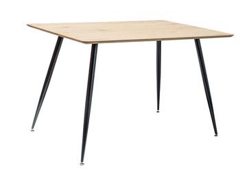 Обеденный стол Signal Meble Scandinavian Remus, черный/дубовый, 1200x800x755мм