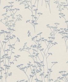 Tapetas vinilinis popierinis Rasch 304534 Selection Relief/Vlies, pilkas su gėlėmis