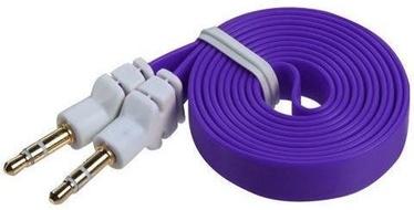 Mocco Flat Premium 3.5mm To 3.5mm AUX Cable 90cm Purple