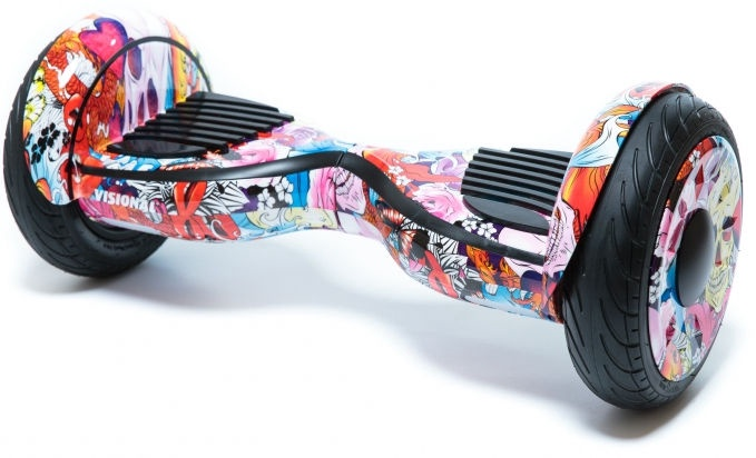 Visional Hoverboard 10.5'' With Bluetooth Roses And Skulls