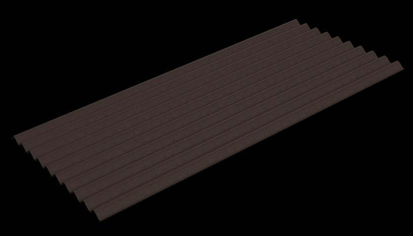 Banguotas bituminis lakštas Guttapral K10, rudi, 2x0.95m