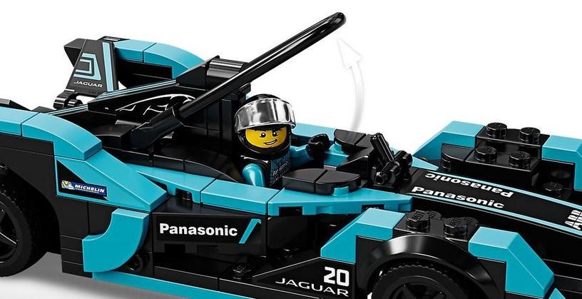 Konstruktorius LEGO®Speed Champions 76898 Formula E Panasonic Jaguar Racing GEN2 automobilis & Jaguar I-PACE eTROPHY