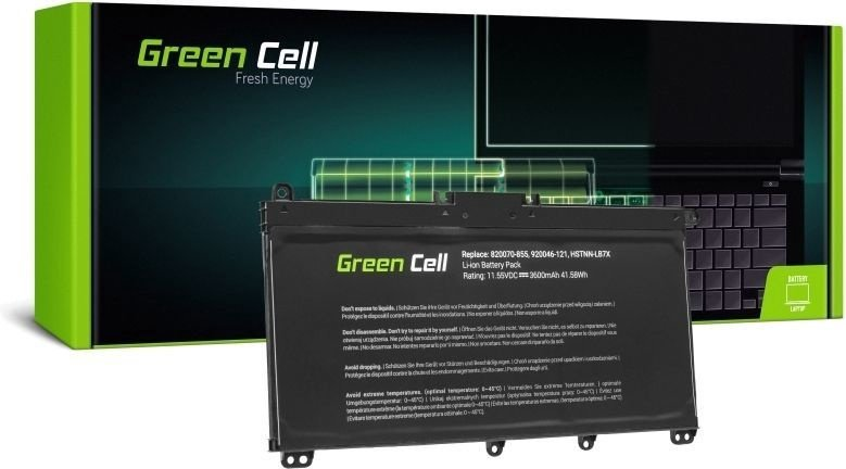 Green Cell Laptop Battery HP 14-B / 15-C / 17-A