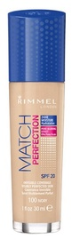 Rimmel London Match Perfection Foundation SPF20 30ml 100