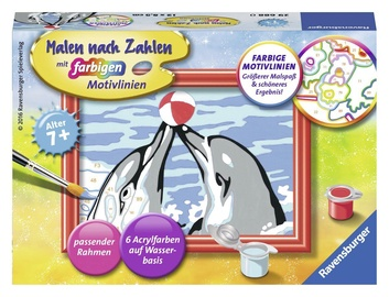 Ravensburger Painting By Numbers Dolphins 296880