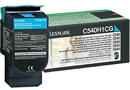 Lazerinio spausdintuvo kasetė Lexmark C54x/X54x Cyan High Yield Toner cartridge