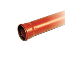 CAURULE ĀRĒJA D110 1M PVC (MAGNAPLAST)