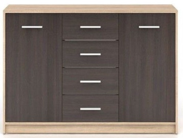 Black Red White Chest Of Drawers Nepo Plus Sonoma Oak/Wenge