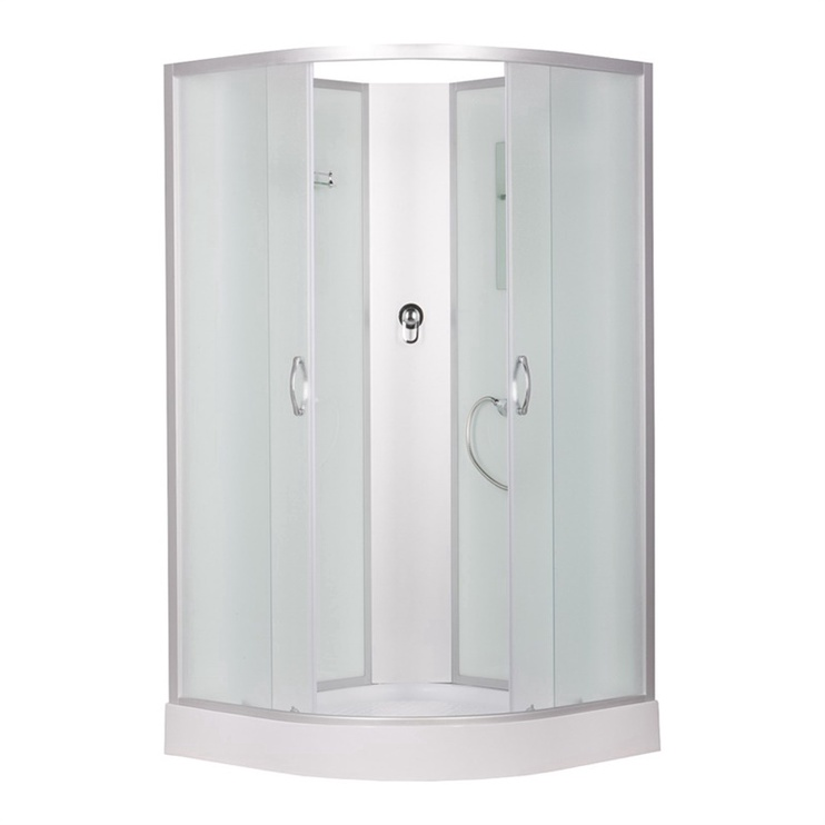 Kabīne dušas 3509pe-c3 90x90+paliktn 4d (erlit)