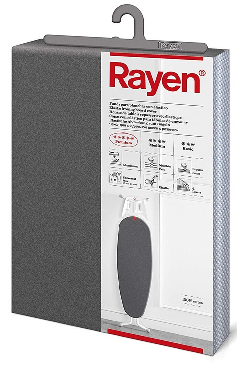 Чехол для гладильной доски Rayen Premium Aluminium Ironing Board Fabric 127x51cm Grey