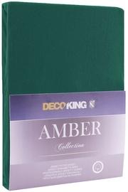 Palags DecoKing Amber Bottle Green, 220x200 cm, ar gumiju