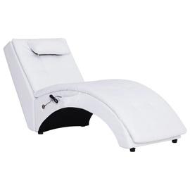 Tugitool VLX Massage Chaise Longue 281345, valge, 54 cm x 145 cm x 72 cm